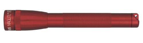 Mag-Lite SP2203HF Mini Maglite 2AA Multimode Hochleistungs-LED-Taschenlampe, 17 cm rot inkl. 2 Mignon-Batterien und Nylonholster