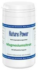 Nature Power   Magnesiumzitrat   150 vegetarische Kapseln   glutenfrei -