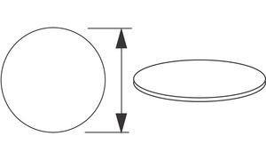 Wellemöbel 72322204 Arbeitsplatte'CONTACT', rund, Kirschbaum-