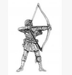 Gift Box Pewter Archer - Robin Hood Badge pin or Brooch Gift for Scarf, Tie, Hat, Coat or Bag