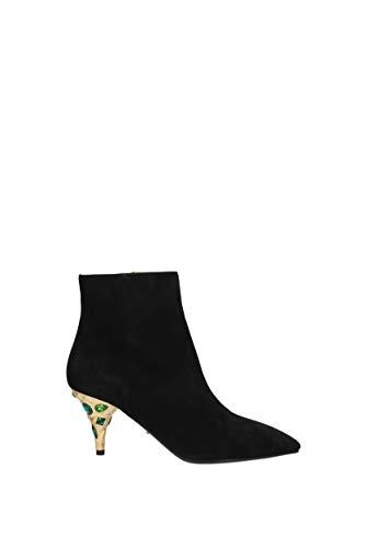 Prada, Damen Stiefel & Stiefeletten, Schwarz - Schwarz - Größe: 37 EU
