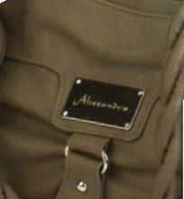 Alessandro ROCCIA 3547 Handbag Damen Umhängetasche in 3 Farben ca. 36 x 27 x 12 cm Schlamm