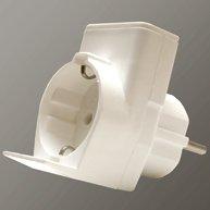 Preisvergleich Produktbild Duplex Schuko Euro Doppelstecker Adapter Verteiler 2-fach