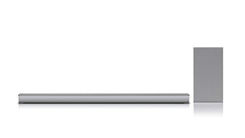 LG SJ6 Inalámbrico y alámbrico 2.1channels 320W Plata Altavoz soundbar - Barra de Sonido (2.1 Canales, 320 W, DTS Digital Surround,Dolby Digital, 120 W, 4 Ω, 82 dB)
