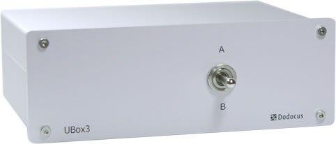 Dodocus UBox3 Lautsprecher-Umschalter | Frontplatte: Aluminium Lautsprecher-frontplatte
