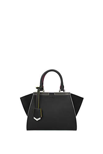Fendi Leder Handtasche Damen Tasche Bag mini 3jours Schwarz