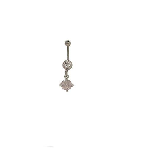 Rosa Herz Bauch Juwelen - BodyJewelryonline Dangler Bauchnabel Ring mit klaren