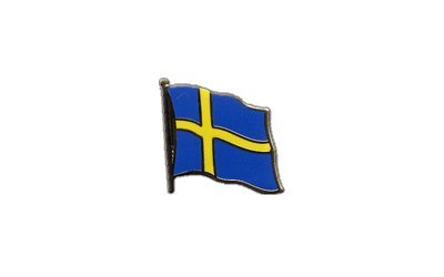 Flaggen-Pin/Anstecker Schweden vergoldet