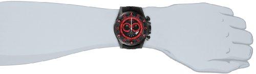 Invicta Men's Quartz Watch with Black Dial Chronograph Display and Black Silicone Strap 12690