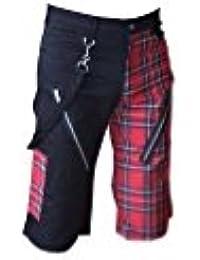 Nix Gut Tartan, Short Straight-Fit-Style, Colour: Black/Red