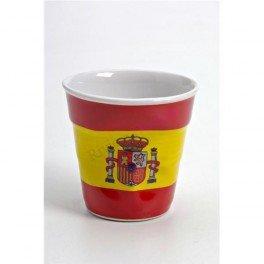 6 tasses froissées expresso drapeau Espagne Revol 8 cl