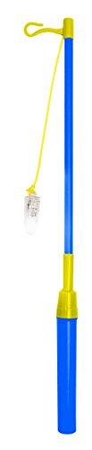 Elektrischer Laternenstab mit Beleuchtung LED blau gelb Laternenfest Lampion Laterne Martinstag