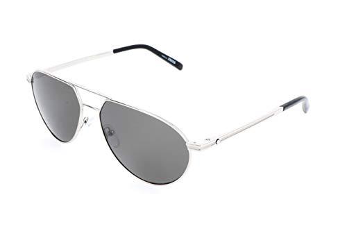 Montblanc Unisex-Erwachsene Mont Blanc Sonnenbrille, Silver, 59