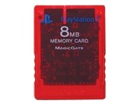 Price comparison product image Official Sony PlayStation 2 Memory Card - Red