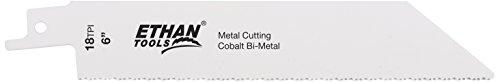 Ethan 37618–Bi-Metall Robuster Säbelsägeblatt Klinge, 6von 1von .042von 18TPI, 2pro Pack (Metall Ethan)