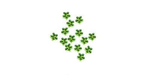 strass, fleur - environ 50 pièces 20 vert clair