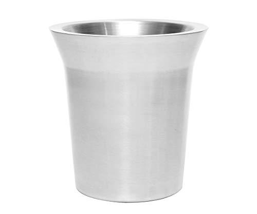 Brillibrum Design Sektkühler Flaschenkühler Doppelwandig Edelstahl Gebürstet Matt Flaschenkühler Mit Gravur Geschenkidee Ø 19cm (Gravur bis 25 Zeichen)