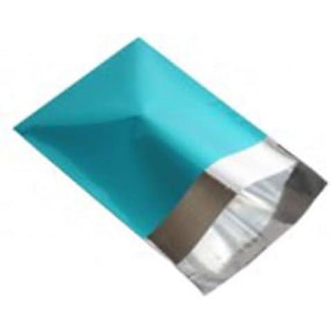 Mailingbagsrus metálico turquesa 9