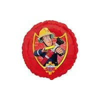 "Fireman Sam Round Foil Balloon : - 17 "" (43 cm) diam"