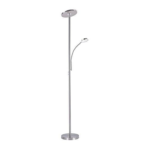 LED-Deckenfluter dimmbar mit flexibler Leselampe, Stehleuchte Wohnzimmerlampe Standleuchte LED-Fluter Standlicht, Wohnzimmerleuchte, Leseleuchte LED Standleuchte 2400 Lumen 3000 Kelvin warmweiss