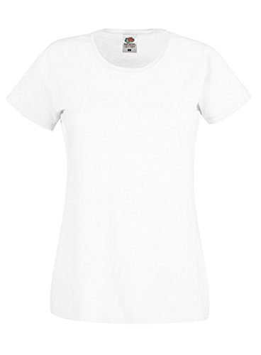 Fruit of the Loom -  T-shirt - Donna Bianco