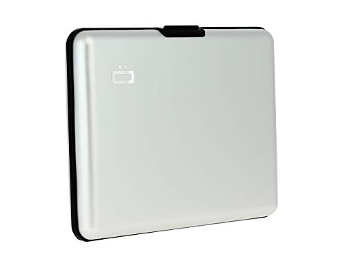 Ögon Smart Wallets - Portefeuille Format Carte d'identité et Permis de Conduire - RFID Protection : protège Vos Cartes Contre la fraude - Jusqu'à 10 Cartes - Aluminium