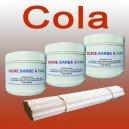 Set mit 3Töpfen mit Zucker Zuckerwatte Cola 500g + 100Stöcke