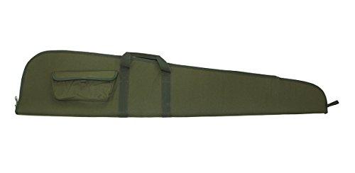 Gewehrfutteral Akah für Langwaffen mit Zielfernrohr, abschliessbar, grün mit Aussentasche