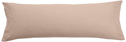 Pikolin Home - Almohadón, funda de almohada, 100% algodón, almohadas de 70, 75 y 80cm, color marrón...