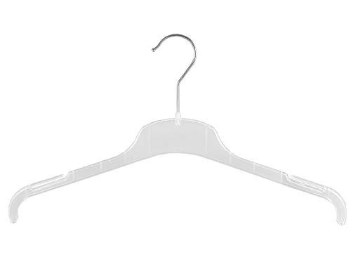 Kostüm Plexiglas - Kleiderbügel für Kostüme, Blusen und Shirt, 43 cm, FO1-43c, transparent, NEU, 20 Stück