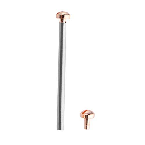 F Fityle Schraubstange Stabstange für Uhr Verbinden Uhrengehäuse/Lug / Band/Strap Reinigungs- und Putztücher - Roségold 20mm