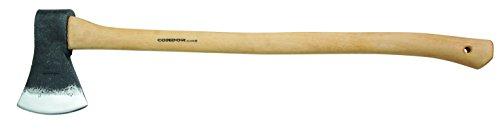 Condor Tool & Knife Geschmiedet Hickory-Stiel Leder-Schneidenschutz Beile, Braun, 84.5 cm
