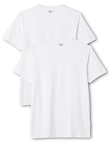 LERROS Herren LERROS Herren Rundhals T-Shirt Doppelpack T-Shirt,,per pack Weiß (White 100),Large (Pack Weiße T-shirts Männer)