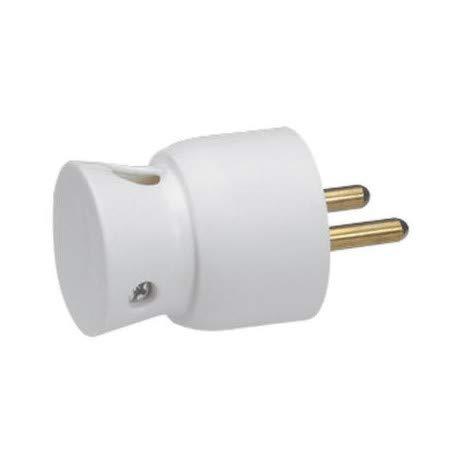 Legrand LEG50416 Fiche 2p+t 16 A plastique sortie latérale Blanc
