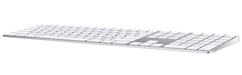 Apple Magic Tastatur mit Ziffernblock, Bluetooth (Deutsches Tastatur-Layout, QWERTZ) Silber