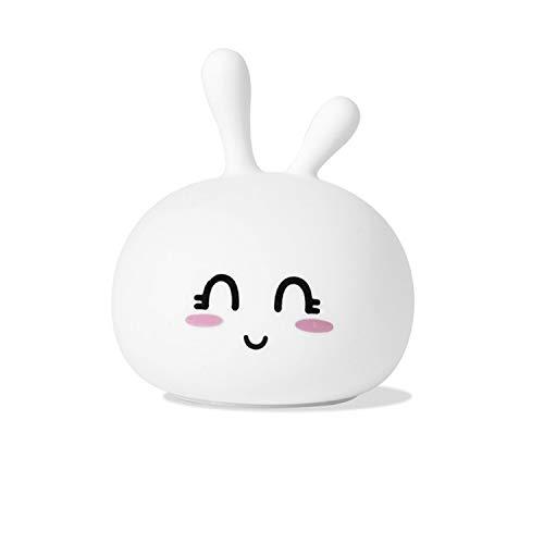 Z Lamp Niedliche Kaninchen Nachtlampe Sprossen Kaninchen Silikon-lampe Bunten Usb Niedlichen Fernbedienung Cartoon Led-trewert-atmosphäre Lampe 0,1 Bohnrabbit-Verbot