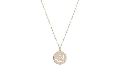 Remi Bijou Halskette 925 Sterling Silber Allah Symbol Islam Muslim, ColorName:Rosegold