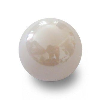 MaRécréation–30Kugeln Glas Perle in zum Sammeln, m2-zufc-h0-c, weiß, 14mm