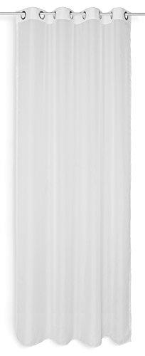 Haus und deko tenda decorativa in voile emotion, bianco, trasparente, in organza, con occhielli, poliestere, 140x300 cm