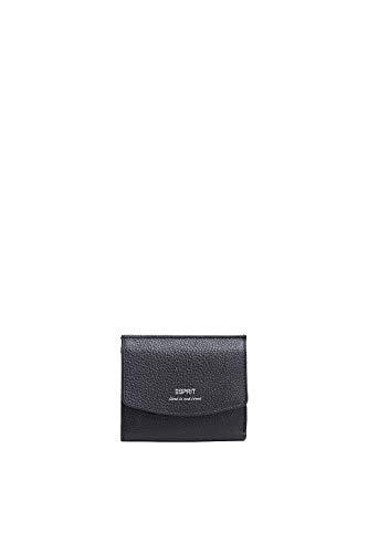 Esprit Damen Geldbörse Portemonnaies Classic small Wallet Leder Schwarz -