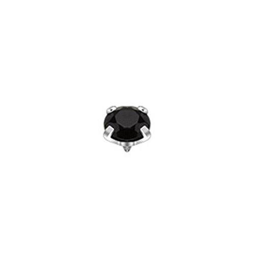 Paula & Fritz ancoraggio cutaneo bioset linea cubic zirconia 5mm in 9colori nero SAS.