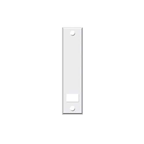 Abdeckplatte (Blende) mit Lochabstand 16 cm eckig weiß - Set 6 Stück jkhandel - (Blende)