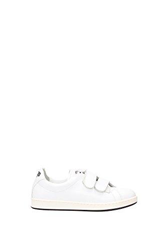 Sneakers Kenzo Donna Pelle Bianco e Nero L502SN11301K62 Bianco 37EU
