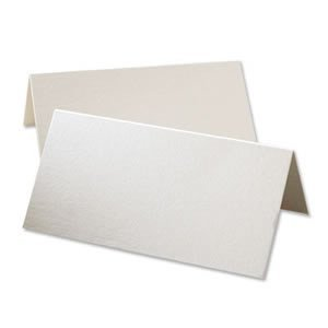 Plain Ivory Place Cards Pack of 50 (XPPC2) Test