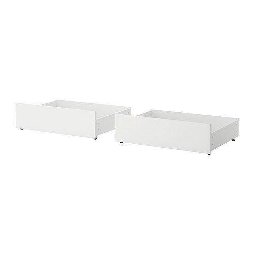 Ikea MALM Bettkästen für Bettgestell hoch; in weiß; 2 Stück