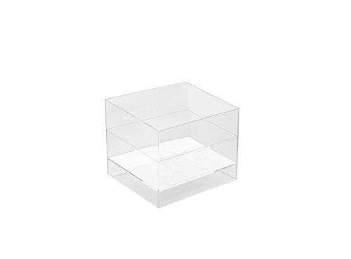 Gold Plast coupe Cube-15 pièces par paquet 47x47 mm transparent