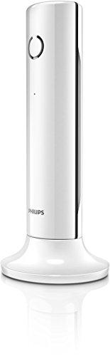 Philips M3351W/05 - Teléfono (Teléfono DECT, Terminal inalámbrico, Altavoz, 50 entradas, Identificador de Llamadas, Blanco)
