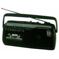 Panasonic RX M 40 E 9-K Mono Radiorekorder (UKW-/MW-Tuner, Kassettendeck, Mikrofon) schwarz