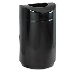 Rubbermaid??? Commercial Eclipse Open Top Waste Receptacle, Round, Steel, 30 gal, Black by Rubbermaid?·?? Commercial