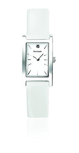 Pierre Lannier - 001F600 - Week End Basic - Montre Femme - Quartz Analogique - Cadran Blanc - Bracelet Cuir Blanc